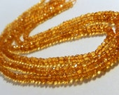 Citrine Gemstone, Semi Precious Gemstone Bead. Faceted Citrine Rondelle Bead,  4mm, Strand Your Choice  (fctbd)