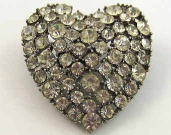 Glitzy Heart Buckle