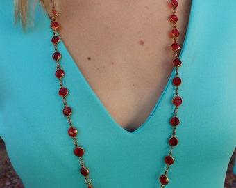 Valentina Long Beaded Statement Necklace-1 Left