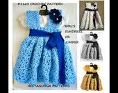 BABY DRESS crochet PATTERN, Crochet Pattern #1123, Dress crochet pattern