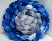 Organic Polwarth/Bombyx 80/20 Roving Combed Top 5oz - Twilight Fog 2 - Oops!