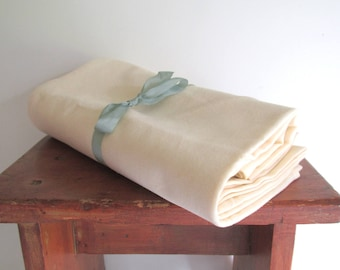 Four Cream Off White 100% CottonTea Towels Craft Sewing Embroidery Supply Hemmed Cotton New