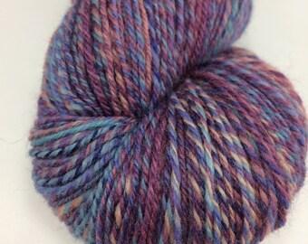 Handspun Yarn Sock Yarn 'Fairytale 2' falkland wool 380 yds Nest Fiber Studio