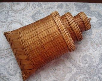 Set of 3 Nesting Hanging Wall Baskets, Storage, Organization, Decorative, East Indian Decor, Tropical Decor, Key West Decor