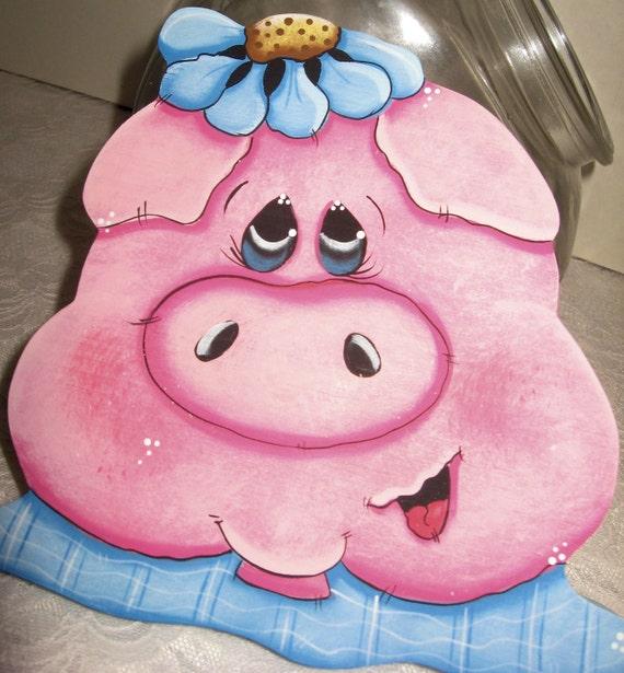 Pig Kitchen Decor: Cookie Jar LidsPig Kitchen DecorPainted PigsUnique