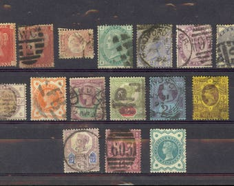 16 Queen Victoria Stamps 1 Mint MH Used Etc All Different Values Lot X67