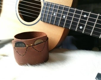 New!!! Item Bracelets Cuff and picks guitar holder gift for Guitarist