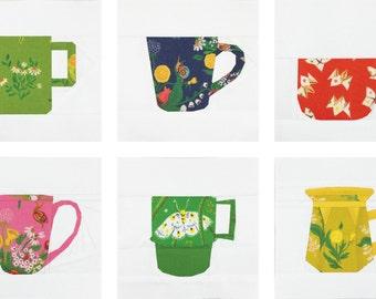 The Mug Club Series Part 1 PDF Paper Piecing Pattern #16