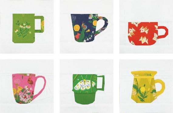 The Mug Club Series Part 1 PDF Paper Piecing Pattern