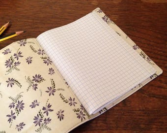 Pocket Knitbook - Lilac Floral - Crafter's Squared Notebook for Quilters, Dressmakers, Knitters and Crocheters