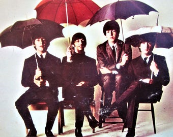 The BEATLES 1965 Hardcover LP Record Album History America's Greatest Rock n Roll Band Invasion Color Pictures Coffee Table Collectible