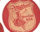 Salvaged Vintage Beer Coasters~Three Double-Sided