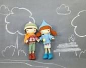 Pocket Studio Doll -  Handmade, Doll, Miniature, Toy, Plush, Girl