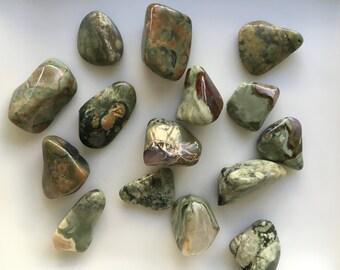 Rainforest Rhyolite Stone, Polished Crystal Healing,  Polished Rhyolite