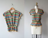 Color Study sweater | vintage 1970s sweater | 70s drawstring sweater