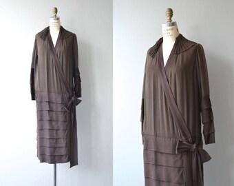 Autoportrait silk dress   vintage 1920s dress   silk 20s dress