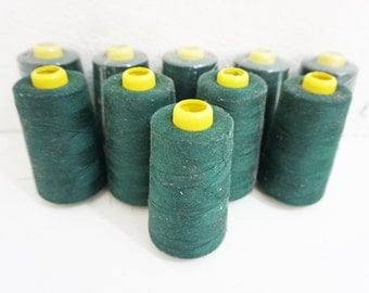 100% Polyester Thread FOREST GREEN