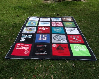 Tshirt Memory Quilt made with your own 20 T shirts
