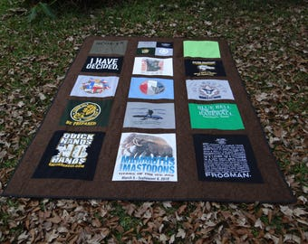 Twin Size Tshirt Memory Quilt made with your own T shirts