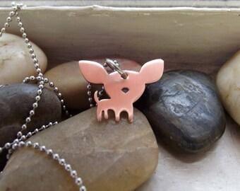 My tiny Chihuahua Pendant, Chihuahua pendant, chihuahua owner gift, cute chihuahua pendant, pet mom gift, I love my chi