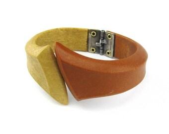 Vintage Bracelet Two Tone Boho 1940's circa