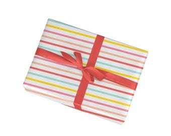 Colorful Stripes Gift Wrap - Wrapping Paper Sheets