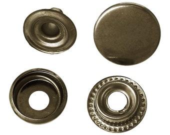BULK - Bronze Snap Closure - Set of 50 metal snaps - 15mm - *see note in description*