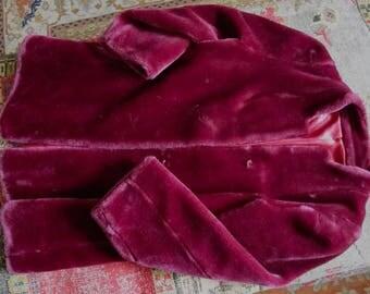 Faux Fur Coat, Purple Fun Fur Coat, 80s Casual Corner Coat, Purple Rain Disco Coat, Bohemian Faux Fur Coat, 80s Party Jacket, Studio 54 Coat