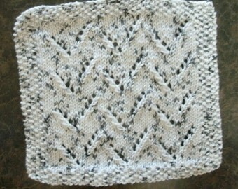 Hand Knit Dishcloth  - measures approximately 9x91/2 inches