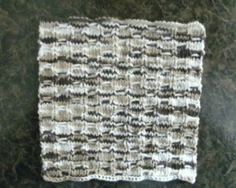 Hand Knit Dishcloth - measures approximately 8x8 inches