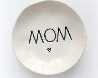 Mom gift modern minimalist ring dish birthday gift ring holder jewelry tray handmade by Cathie Carlson