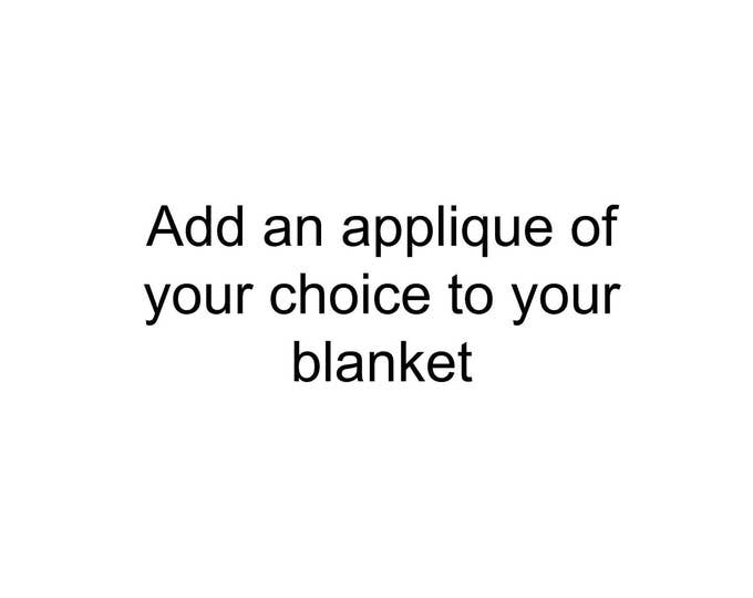 Add an applique to your blanket