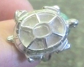 Solid Sterling Silver ~ 28mm TURTLE Ring setting  for iNLAY ~ Custom  ordered for you ~  #EFB-121 ~ FDK