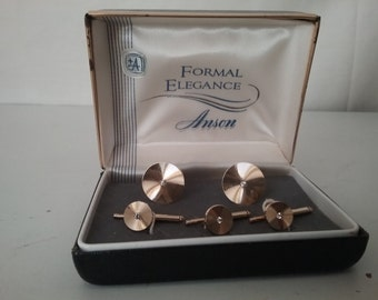 Vintage Anson Cuff Links and Studs in Original Presentation Box