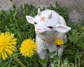 Kasha, Baby Demon Goat - OOAK Art Doll