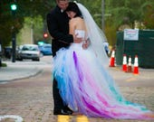 RESERVED Rainbow Wedding Dress payment 3