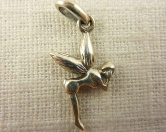 Vintage Sterling Silver Fairy Pendant