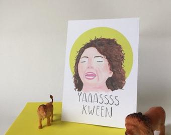 Yas Kween ilana Broadcity motivational postcard