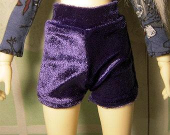 Blue purple velvet shorts for slim MSD, unoa, minifee, 1/4 bjd DOLL(Limited)