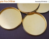 DECEMBER SALE Brass Dish Inserts for Perfume or Cream For Round Brass Lockets - 32mm - 10 pieces