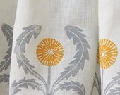 custom dandelion linen curtain panel