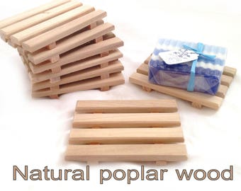 20 natural wood soap dishes 1.19 EACH - natural poplar wood handcrafted in USA