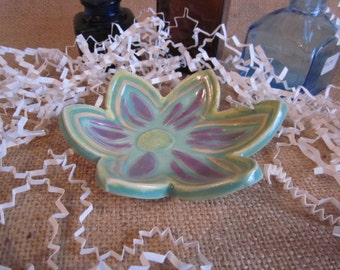 Clearance Sale, Flower  trinket dish, Soap dish, spoon rest, Mom, Nana, Sis, Daughter, Ring dish