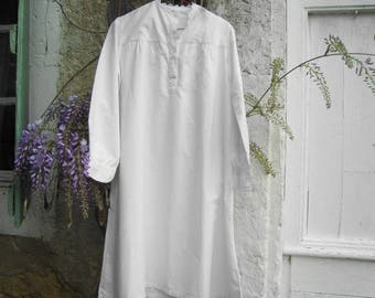 Vintage nightshirt / overtop from early 20th century France - RESERVED for A