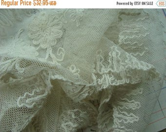 ON SALE Antique Edwardian Heirloom Tambour Brussels Intoxicating Antique Handmade Shawl Collar Downton Gatsby N048