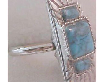 Glass Spider Turquoise RING ~ Size 6