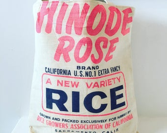 Vintage Hinode Sticky Rice Bag/ Purse/ Tote