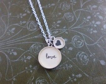 Love Two Charm Pendant