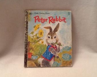 Vintage Peter Rabbit Book Little Golden Book by Beatrix Potter 1975 Easter Decor Childrens Room Decor