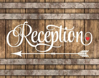 Wedding decals, reception sign, make your own sign, vinyl lettering, reception decal, wedding decorations, wedding reception sign decal